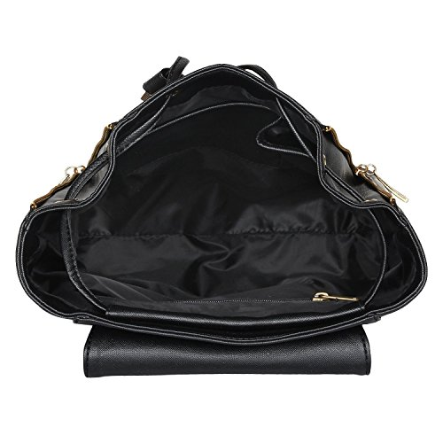 Alice PU 10 Ltr Black Casual Backpack