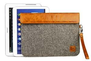 Gecko Covers V12T5C3 Gecko Universal Filz und Rindsleder Hülle für Tablet (10,1 Zoll) braun