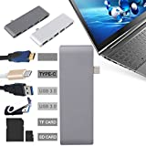 Microware High Speed USB Type-C To 2-Port USB 3.0 HUB Adapter HDMI TF SD Card Reader