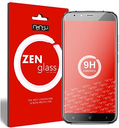 nandu I ZenGlass Flexible Glas-Folie für Oukitel U22 5,5 Zoll Panzerfolie I Bildschirm-Schutzfolie 9H I (Kleiner Als Das Gewölbte Bildschirm)
