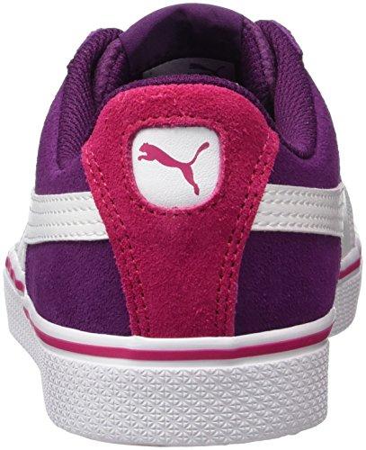 Puma 1948 Vulc Jr, Sneakers Basses Mixte Enfant Violet (Dark Purple-white)