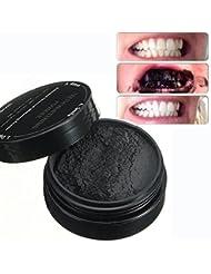Poudre de Blanchiment des Dents LuckyFine Blanche Dentifrice Organiques Naturelles au Charbon Activé de Bambou