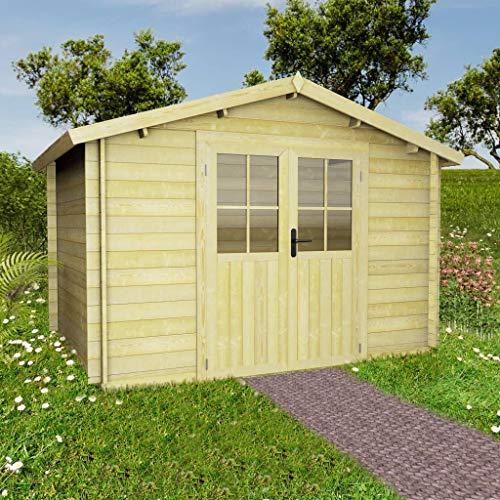 Zora Walter 28 mm 3,1 x 3 m Gartenhaus - Stabiles LagerzeltBlockhaus Massivholz Gartenh?User &...