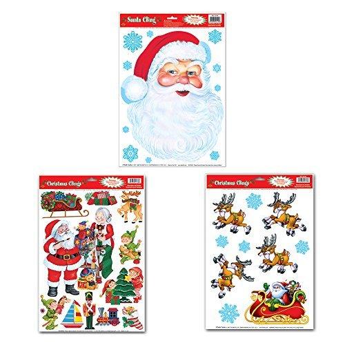 klammert Sich an Bundle: Santa 's Workshop, Santa und Schlitten, und Santa Face ()