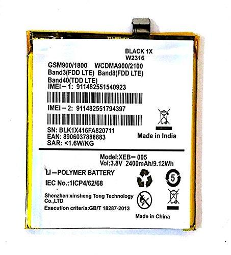 Generic Replacement Internal Battery for Xolo Black 1x W49152400 Mah Li-Polymer