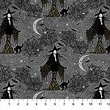 Northcott NOR100 Halloween-Stoffe, Hexenglitter, 0,5 m,