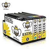 932XL 933XL Cartucce Inchiostro CMYBabee Ricambi per HP 933 XL 932 XL Nuovi Chip Aggiornati Compatibile con Stampanti HP Officejet 6700 6600 6100 7110 7610 4-pacco(1 nero, 1 giallo, 1 ciano,1 magenta)