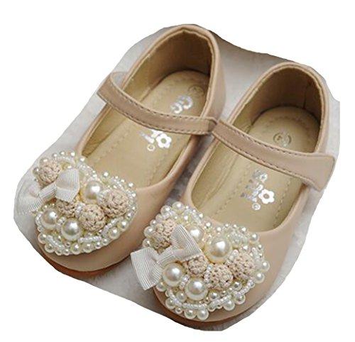 2d1fcccad5c8 Ohmais Enfants Filles Chaussure cérémonie Ballerines à bride Fête  Demoiselle d honneur Mariage Escarpin plat