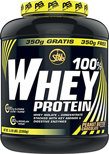 Whey-chocolate Peanut Butter (All Stars 100 Prozent Whey Protein, Peanut Butter Chocolate, 1er Pack (1 x 2350 g))