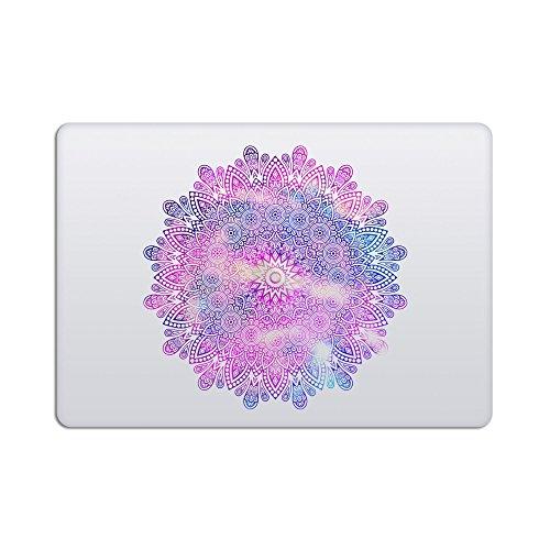artsybb Mandala Abnehmbare Vinyl Aufkleber Aufkleber Skin für Apple MacBook 30,5cm Mac Retina Laptop Mehrfarbig Milky Way 2 - Purple Blue - R - Mandala All 13-15
