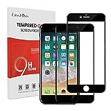 Lanhiem  Verre Blindé pour  iPhone 7/ 8[Couverture Complète]  Hüllenfreundlich 2,5D, dureté 9H Film de Protection en Verre , Noir [Lot de 2]