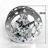 KHSKX Echte Getriebe Metall Skelett Uhr kreative Uhr Glocke Wecker die Wohnzimmer-Uhr metal skeleton silver