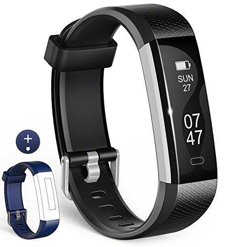1 Fitness Armbänder mit Ersatzband, Schwarz + Blau Bänder, Fit All People ()