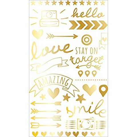 Project Life Foil Rub-Ons - Gold (Rub Ons Craft)
