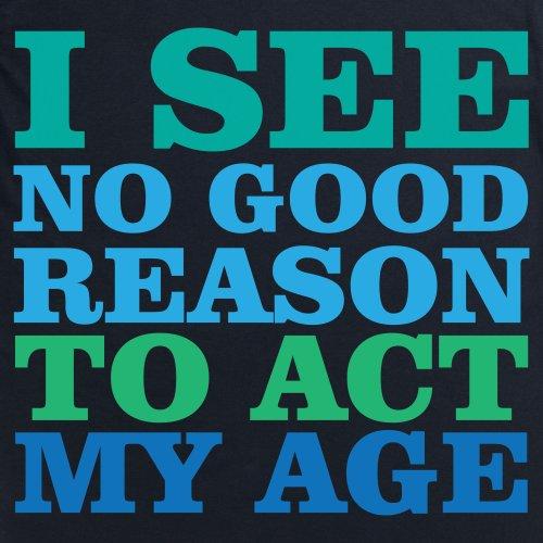 Act My Age T-shirt, Uomo Nero