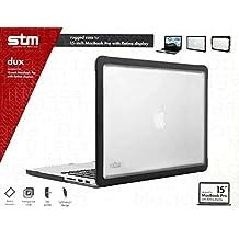 """STM Dux–Slim híbrida resistente carcasa funda case para MacBook Pro 15""""1st, 2nd y 3rd generación modelos con diseño de cuerpo de híbrida con carcasa de policarbonato y TPU de goma soporte manteniendo un perfil delgado"""