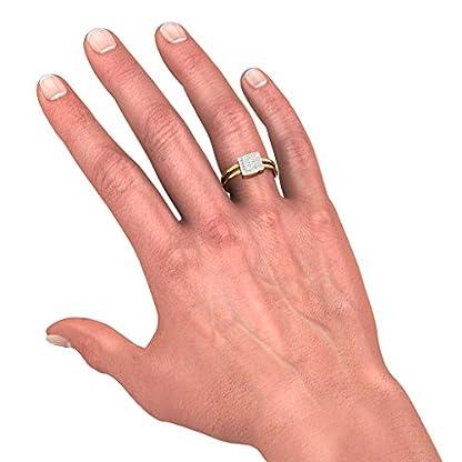 BlueStone 14k (585) Yellow Gold and Diamond Everlasting Bond Ring