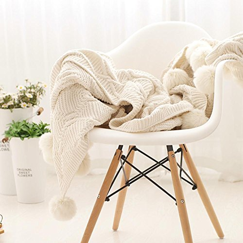 Überwurf Decke handgefertigt Strick Decken Kaschmir Mikrofaser massiv Stuhl Decke für Sofa und Bett Wohnzimmer Single Sofa Decke Klimaanlage Decke, 130cmx160cm, cosy-l, Polyester, B, 130*160cm (Waffel King-size-decke)