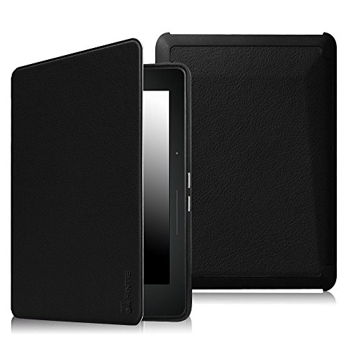 Fintie Kindle Voyage SlimShell Case - [The Thinnest and Lightest] Protective PU Leather Cover with Auto Sleep/Wake (will only fit Amazon Kindle Voyage 2014), Black