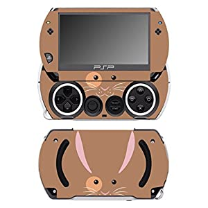 Disagu SF-14232_1023 Design Folie für Sony PSP Go – Motiv Hasengesicht braun transparent