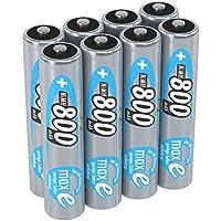 ANSMANN wiederaufladbare Akku Batterien Micro AAA 1 2V/800mAh NiMH - Akkubatterie mit maxE Technologie für Geräte mit hohem Stromverbrauch/Ideal für elektronisches Spielzeug 8 Stück