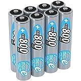 ANSMANN Akku AAA Micro 800mAh 1,2V NiMH 8 Stück für Geräte mit hohem Stromverbrauch - Wiederaufladbare Batterien maxE - Akkus ideal für Spielzeug Taschenlampe Stirnlampe uvm - Rechargeable Battery