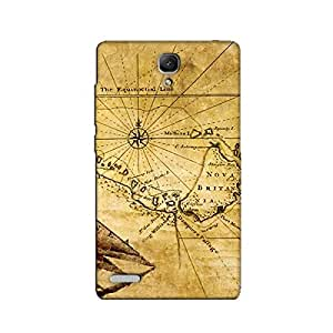 MAP BACK COVER FOR XIAOMI REDMI NOTE 4G