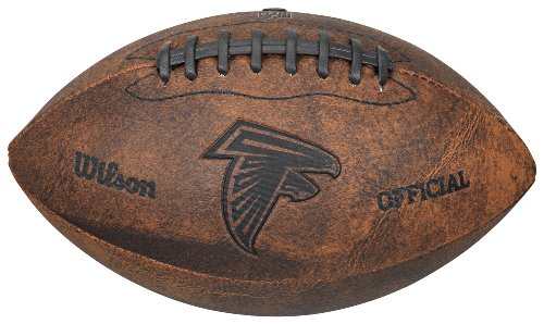 Gulf Coast Sales NFL Vintage Throwback Fußball, 22,9 cm, Unisex-Erwachsene, Braun, Used-Optik