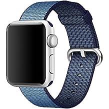 Apple Watch Band pinhen Newest fine in tessuto di nylon cinghia sostituzione della fascia di polso con chiusura in metallo per Apple Watch iWatch Serie 1Serie 2