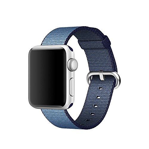 Apple Montre bande pinhen nouvelle Fine Sangle en nylon tissé montre bracelet de rechange avec fermoir en métal inoxydable pour Apple iwatch série 2série 1