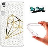 Becool® Fun - Funda Gel Flexible para Bq Aquaris E6 .Carcasa TPU fabricada con la mejor Silicona, protege y se adapta a la perfección a tu Smartphone y con nuestro diseño exclusivo Diamante