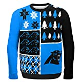 FOCO Carolina Panthers Busy Block Ugly Sweater Extra Large