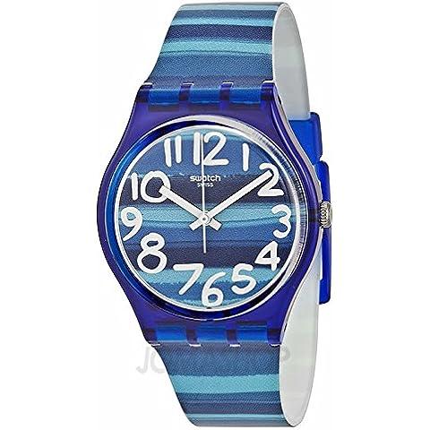 Swatch SOrologio Linajola Blu Quadrante Blu plastica Unisex Orologio GN237 - Quadrante Blu Unisex