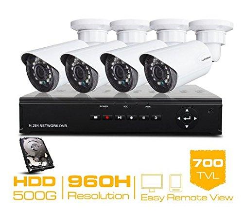 Gowe 4CH CCTV System 960H CCTV DVR HDMI 500GB HDD 4700TVL IR Outdoor Sicherheit Kamera Sicherheit System ÜberwachungsKamera Kits -
