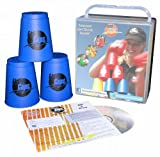 Flash Cups 1001 - Sport Stacking: FlashCups 12 Stück, mit Box+DVD, blau