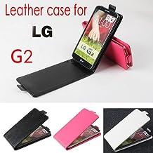Prevoa ® 丨Cartera PU Funda Carcasa Cuero Tapa Case Cover Para LG G2 smartphone - - - color Rosa