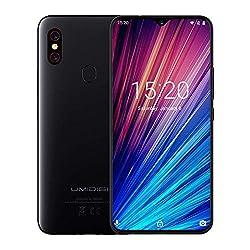 UMIDIGI F1 Play Smartphone ohne vertrag 6.3 Zoll, 64GB interner Speicher, 48MP + 8MP Dual Kamera, Android 9.0, Dual SIM, Global Version, Schwarz