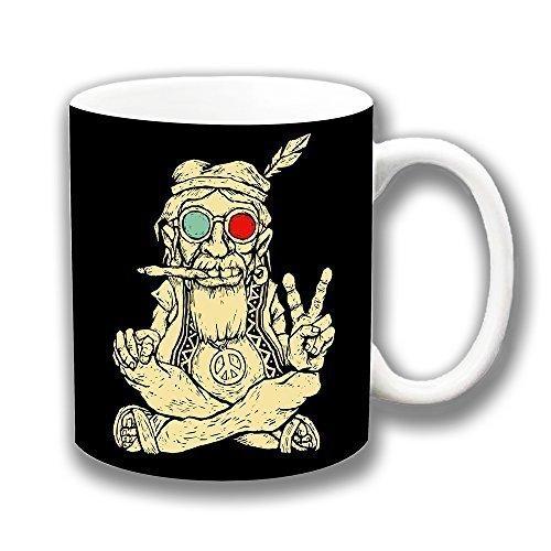Altern Hippie Frieden Smoking Keramik Kaffee Tasse Weihnachtsgeschenk Strumpf Füller
