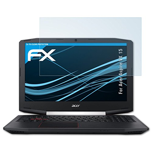 atFolix Schutzfolie kompatibel mit Acer Aspire VX 15 Folie, ultraklare FX Bildschirmschutzfolie (2X)