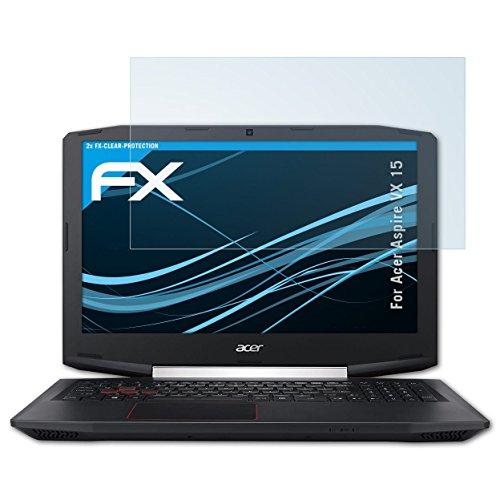 atFolix Schutzfolie kompatibel mit Acer Aspire VX 15 Folie, ultraklare FX Displayschutzfolie (2X)