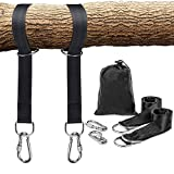 Schaukel Befestigung, Hängematte Befestigung für Bäume geeignet 2 x 150cm, mit 2 Schwerlast Karabinern und D-Ringen, Polyestergurte perfekt für Hängematten und Reifen, hält bis zu 1000 kg, mit Aufbewahrungstasche