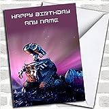 Personalised Purple Wall-E Childrens Birthday Card