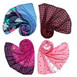 #8: Letz Dezine Printed Poly Cotton Set of four mullticoloured stoles; scarf and stoles for women