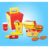 Mayatra's Wooden Junior Burger Food Box Play Set (26 Pieces)