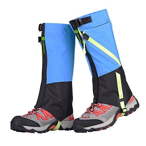 Tagvo Polaina de nieve, impermeable a prueba de viento caliente cubierta de zapatos, duradera fácil de senderismo de limpieza Gator, frente velcro abrir fácil en OFF, adaptarse a los adultos niños hombres mujeres caza escalada esquí ciclismo recorte de césped