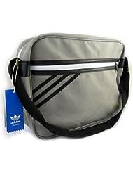 Bolsa de hombro 'Adidas'gris (38x28x11 cm).
