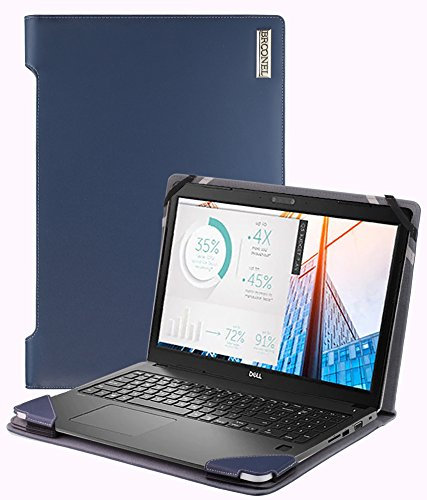 Broonel - Profile Series - Blue Leather Luxury Laptop Case For The Dell Latitude 3580 15 Inch