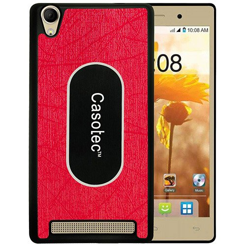 Casotec Metal Back TPU Back Case Cover for Intex Aqua Power Plus - Red  available at amazon for Rs.149