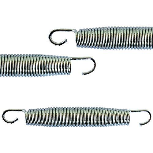 AWM Trampolin Federn 4 Größen (135, 165, 178, 185 mm) Sprungfedern Ersatzfedern (4x 135mm)