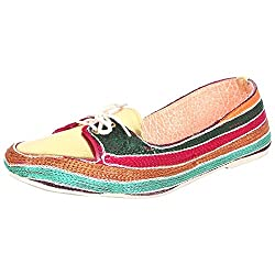 Footrendz Women Colourful Synthetic Leather Loafer